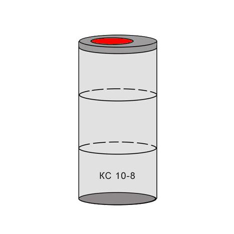 однокамерный бетонный септик 3 кольца