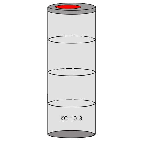 однокамерный бетонный септик 4 кольца