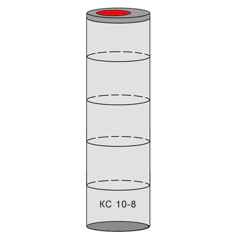 однокамерный бетонный септик 5 колец