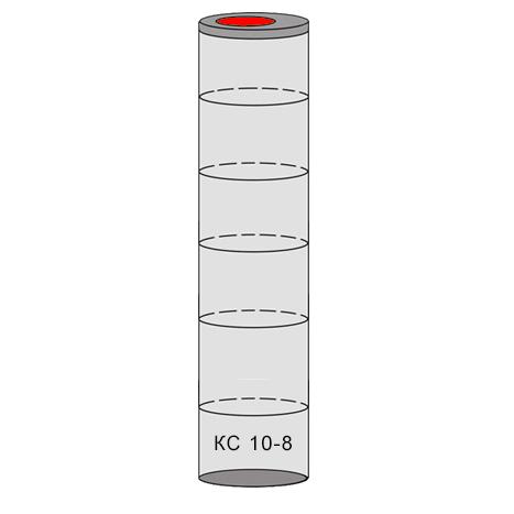 однокамерный бетонный септик 6 колец
