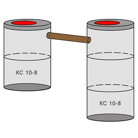 двухкамерный бетонный септик 2+3