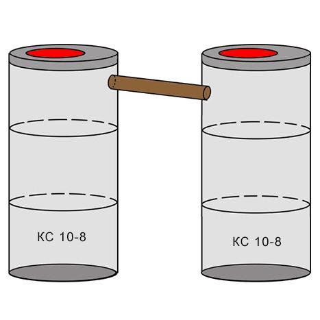 двухкамерный бетонный септик 3+3