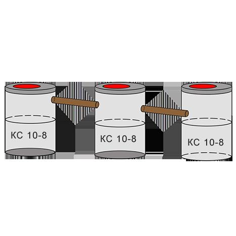 трехкамерный бетонный септик 2+2+2