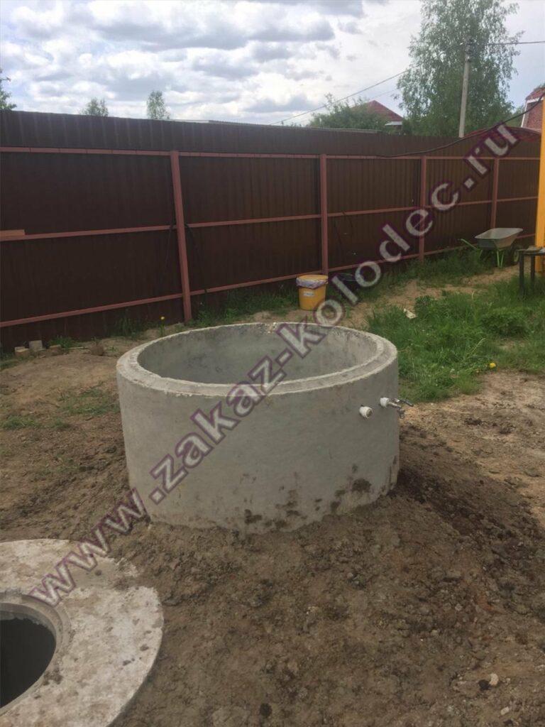 кессон для скважины бетонный