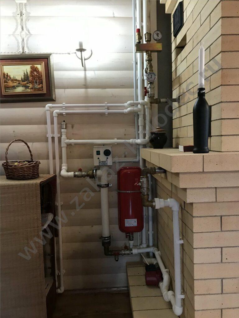 установка отопления для дачи
