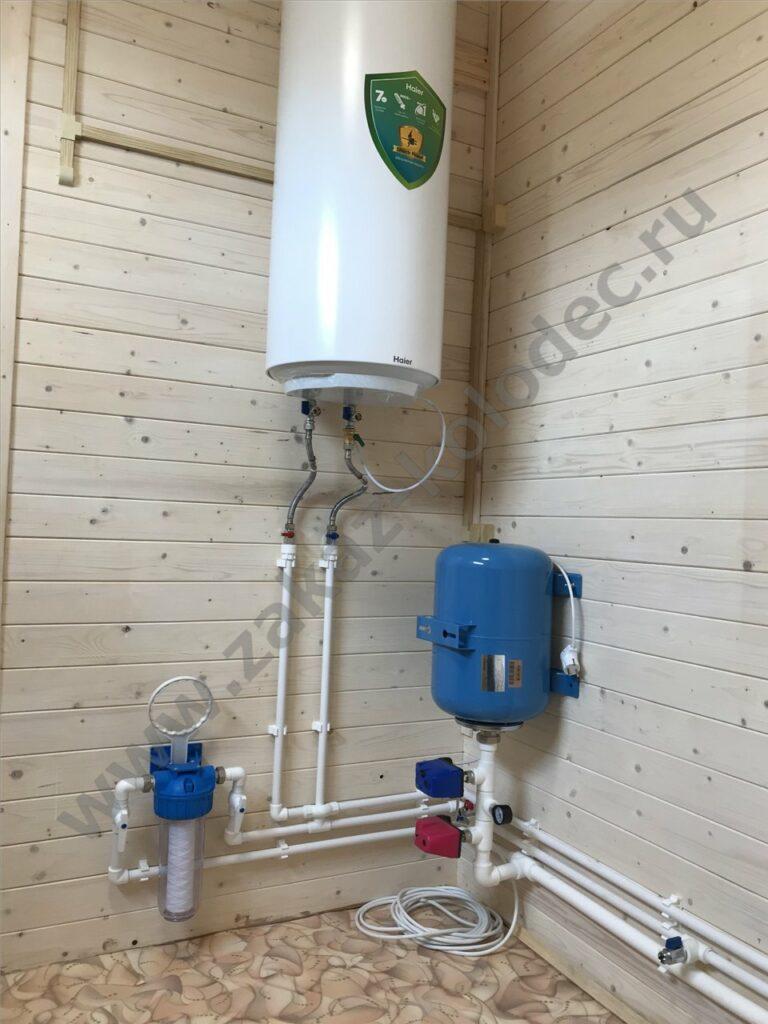 водонагреватель монтаж на даче