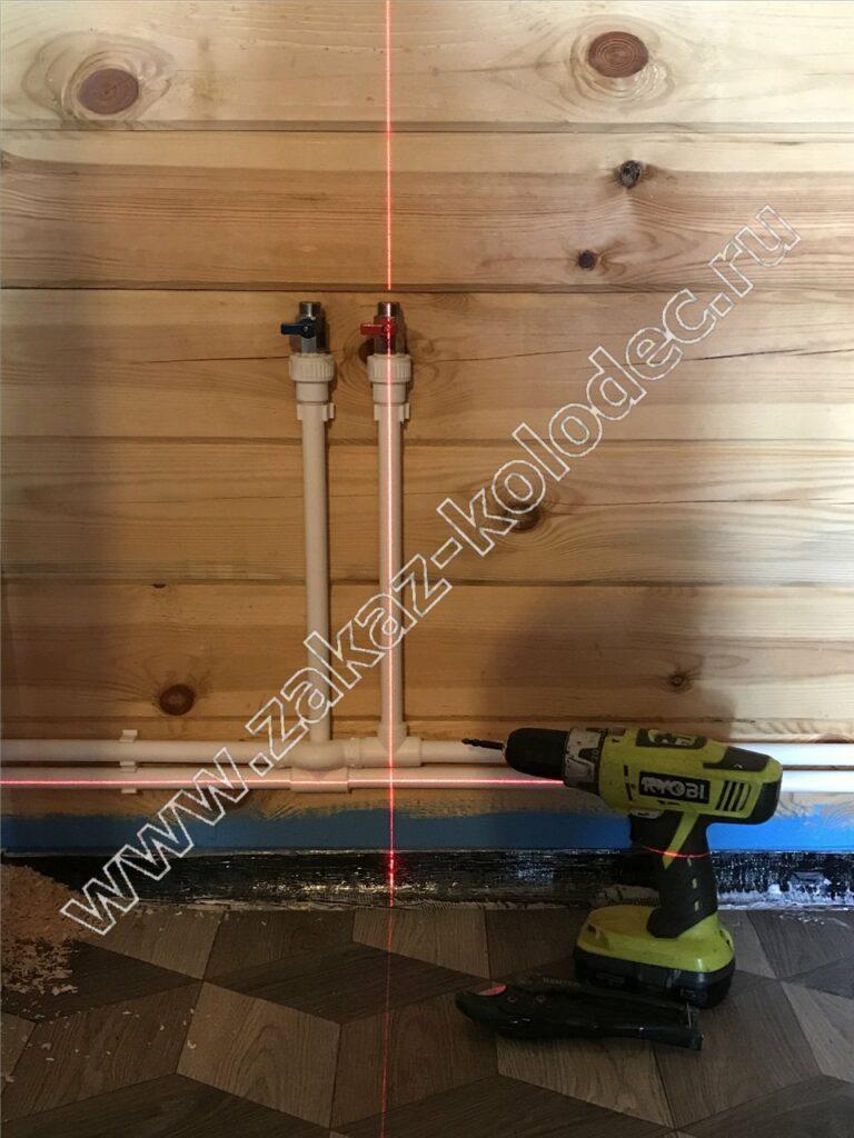 монтаж дачного водопровода из колодца