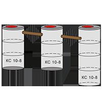 трехкамерный септик из колец - схема 2+2+3