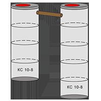 двухкамерный септик из колец - схема 4+5