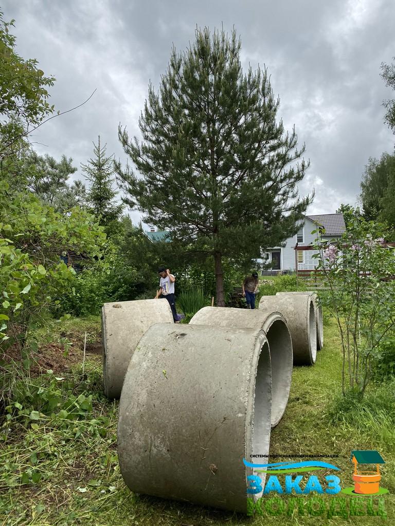 бетонные кольца готовы для монтажных работ