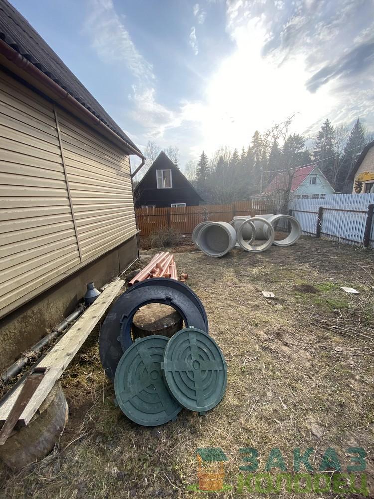 Септики из бетонных колец под ключ Пушкинский район