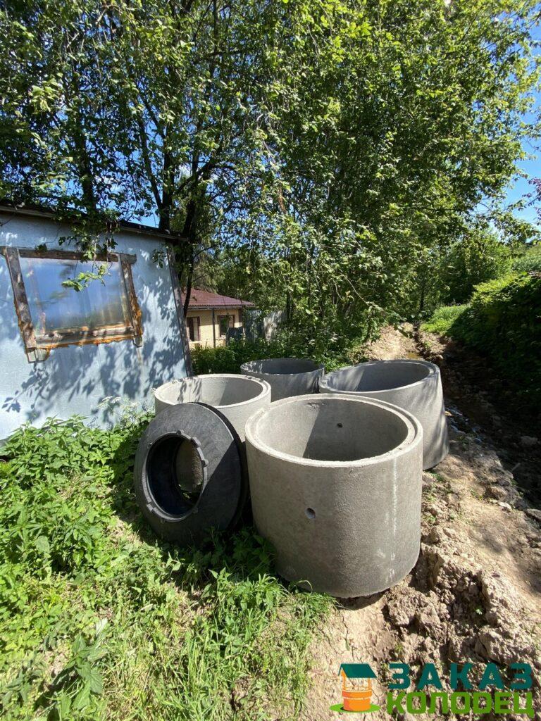 Септики из бетонных колец под ключ Клинский район